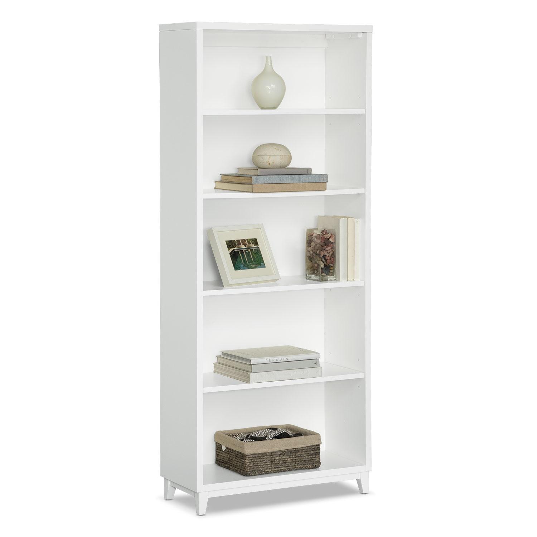 """Oslo 70"""" Bookcase - White"""