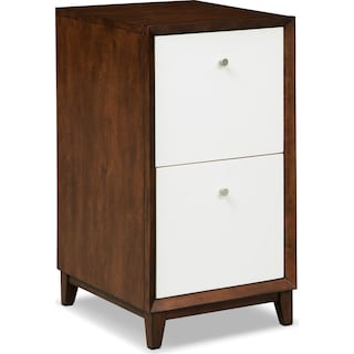 Oslo 2-Drawer File Cabinet - White