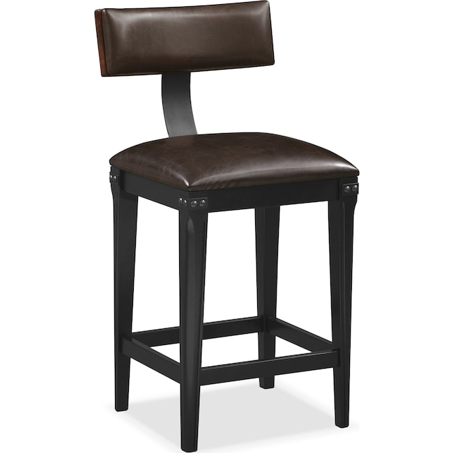 Dining Room Furniture - Newcastle Counter-Height Stool - Mahogany