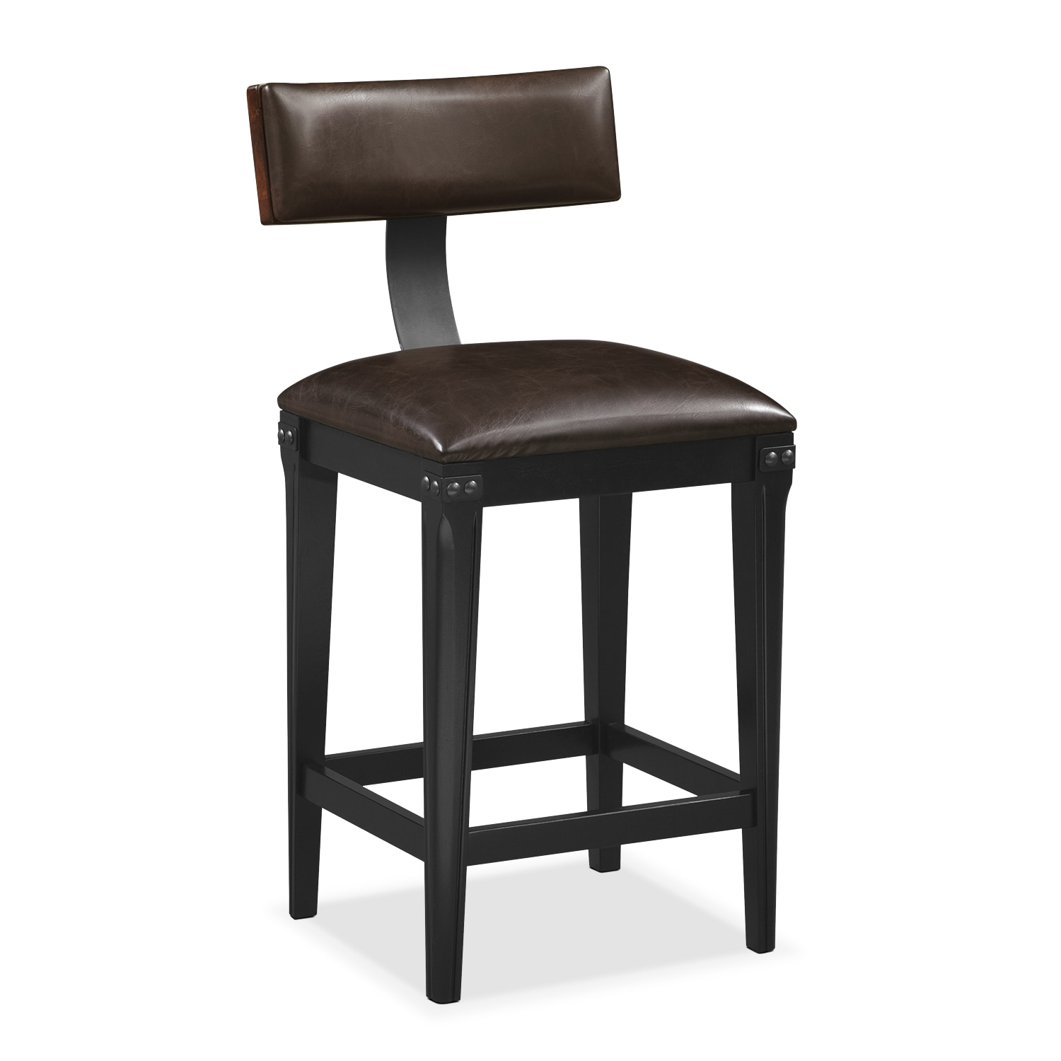Newcastle Counter Height Stool   Mahogany