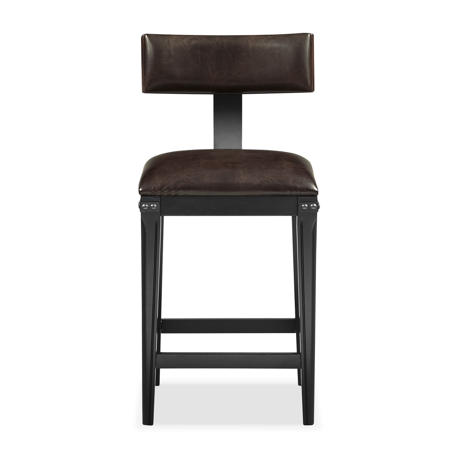 Newcastle Counter Height Stool Mahogany Value City Furniture And Mattresses