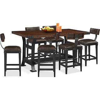 Newcastle Counter-Height Dining Table and 6 Stools