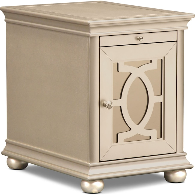 Bedroom Furniture - Allegro Chairside Table - Platinum