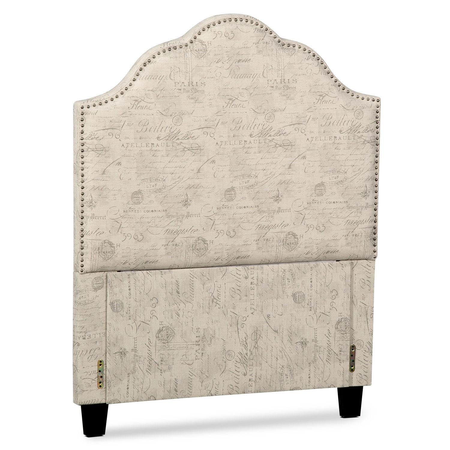 Maya Full Upholstered Headboard - Script