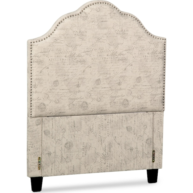 Bedroom Furniture - Maya Twin Upholstered Headboard - Script