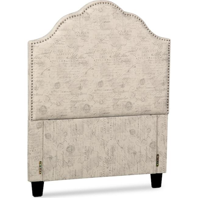 Kids Furniture - Maya Twin Upholstered Headboard - Script
