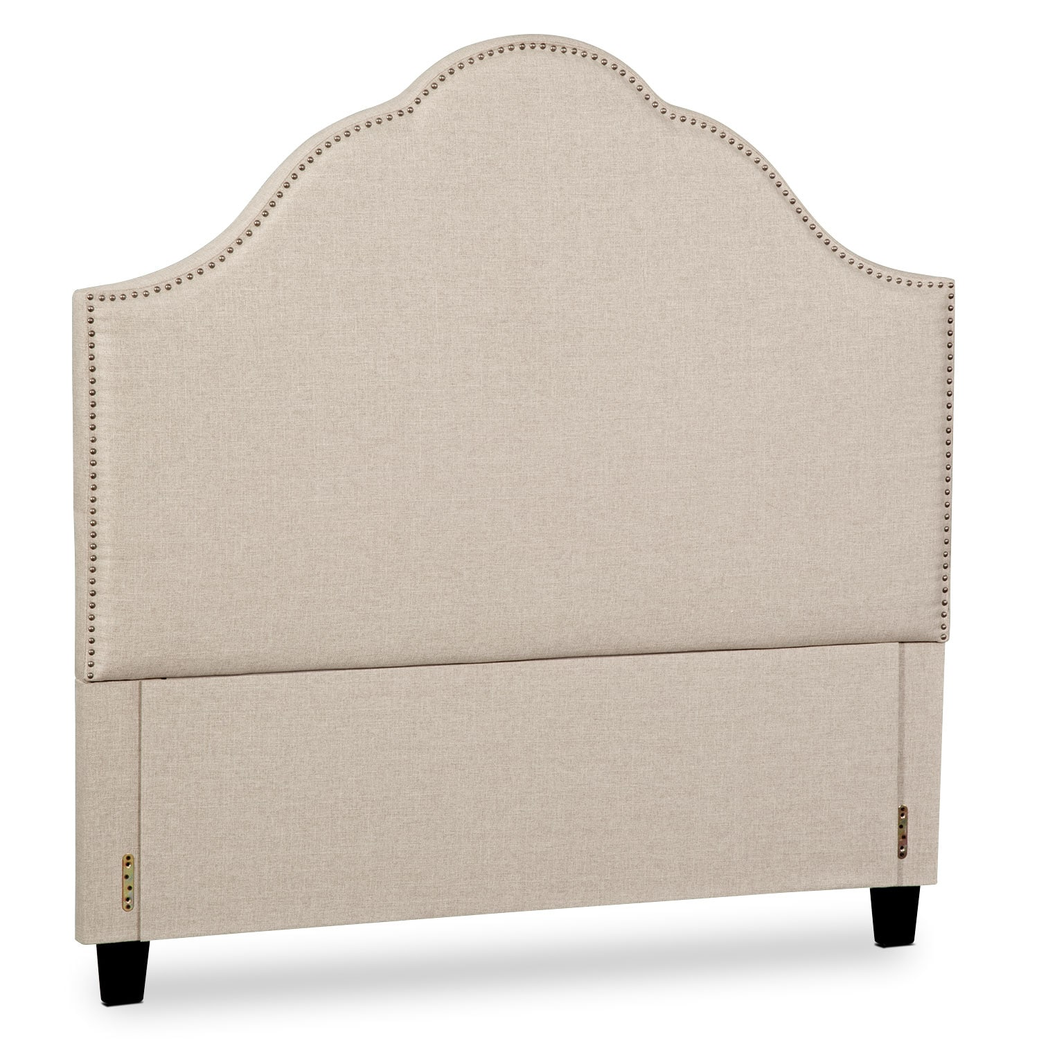Maya Queen Upholstered Headboard - Beige