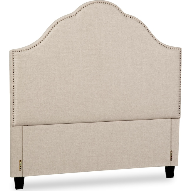 Bedroom Furniture - Maya Queen Upholstered Headboard - Beige