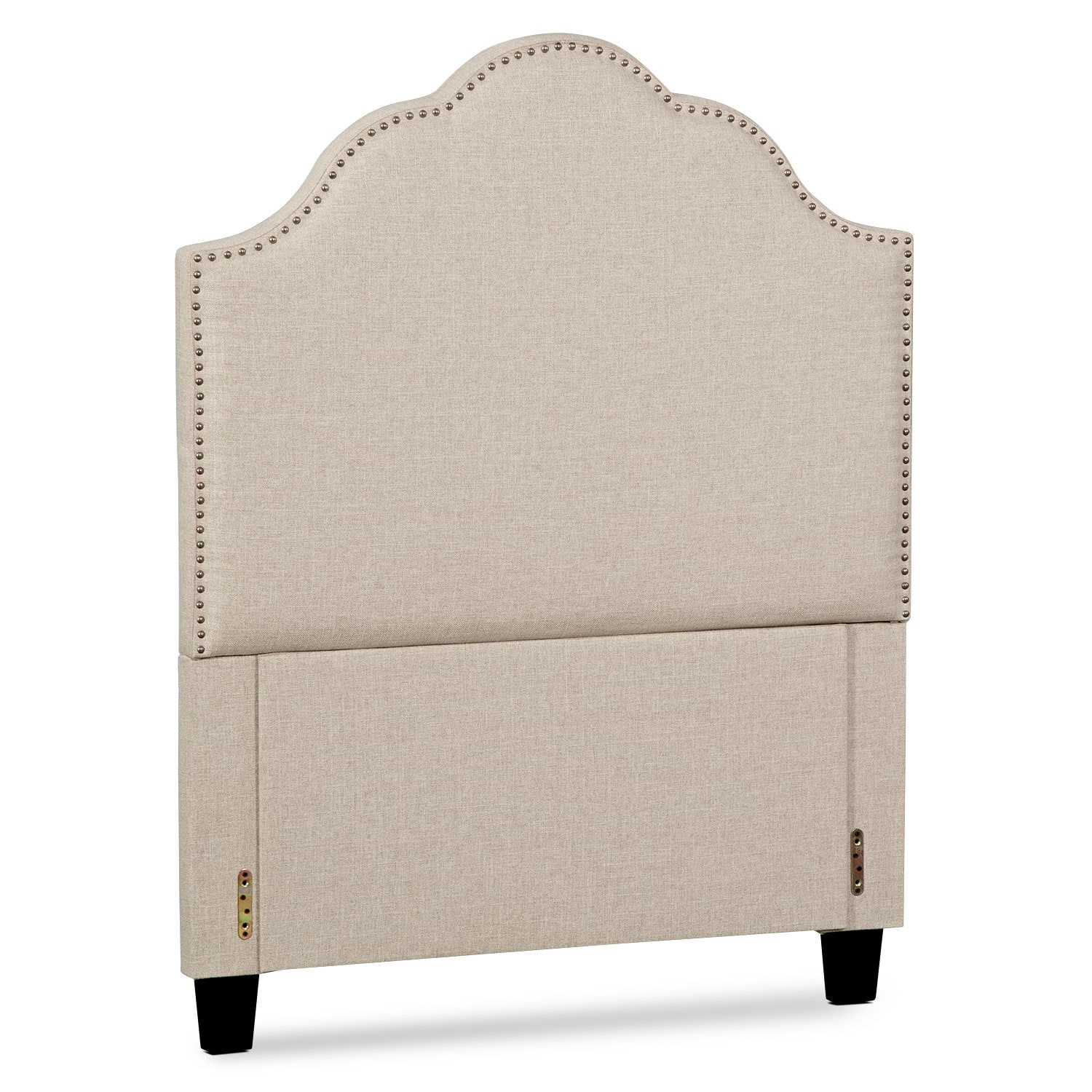 Maya Twin Upholstered Headboard - Beige