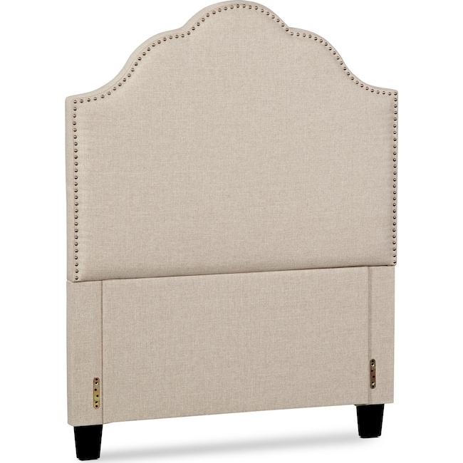 Bedroom Furniture - Maya Twin Upholstered Headboard - Beige