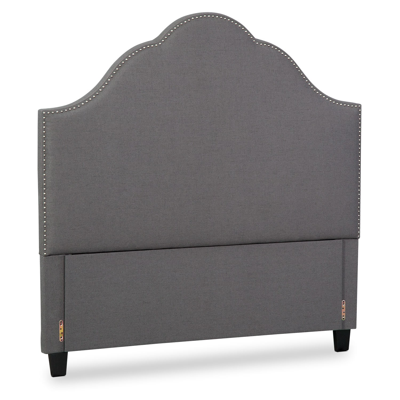 Maya Queen Upholstered Headboard - Gray