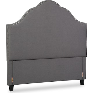 Maya Queen Upholstered Headboard - Gray