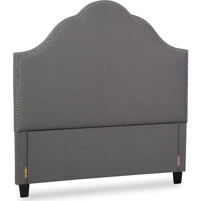 Bedroom Furniture - Maya King Upholstered Headboard - Gray