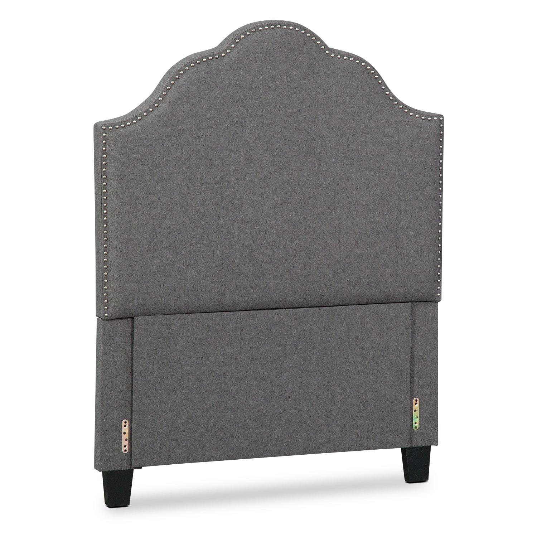 Maya Twin Upholstered Headboard - Gray