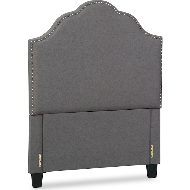 Bedroom Furniture - Maya Twin Upholstered Headboard - Gray