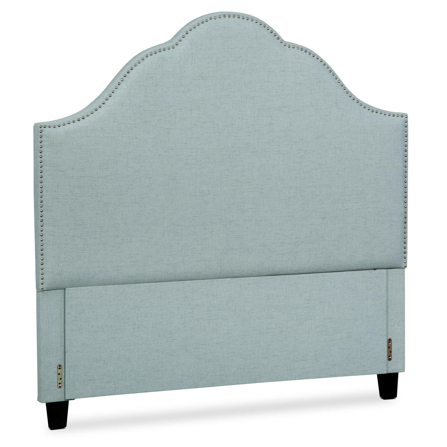 Maya Queen Upholstered Headboard - Aqua