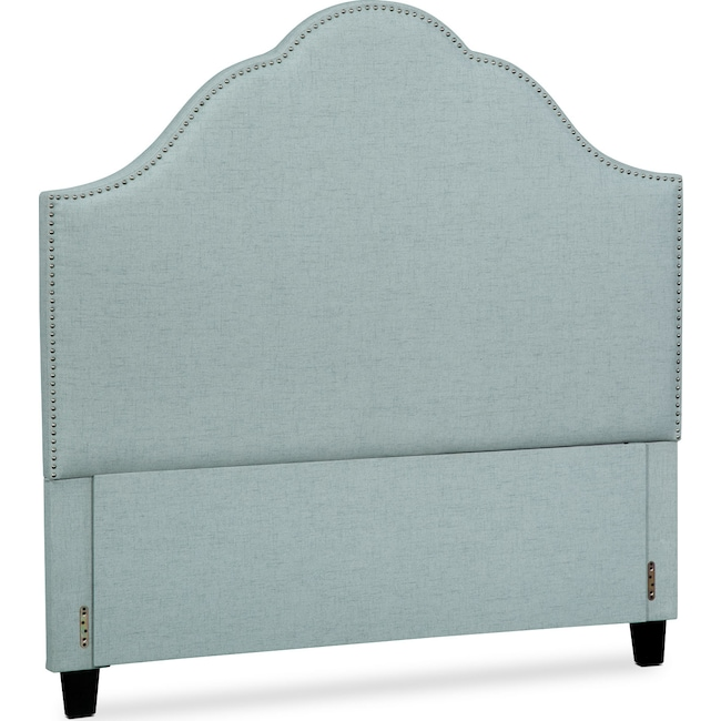 Bedroom Furniture - Maya King Upholstered Headboard - Aqua