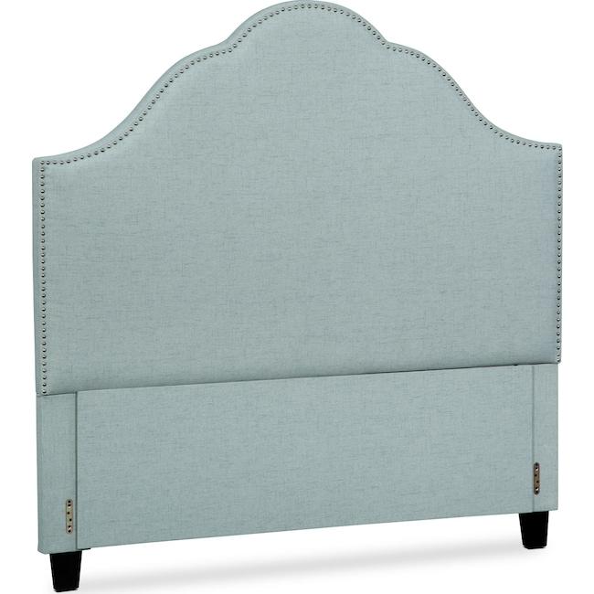 Bedroom Furniture - Maya Queen Upholstered Headboard - Aqua