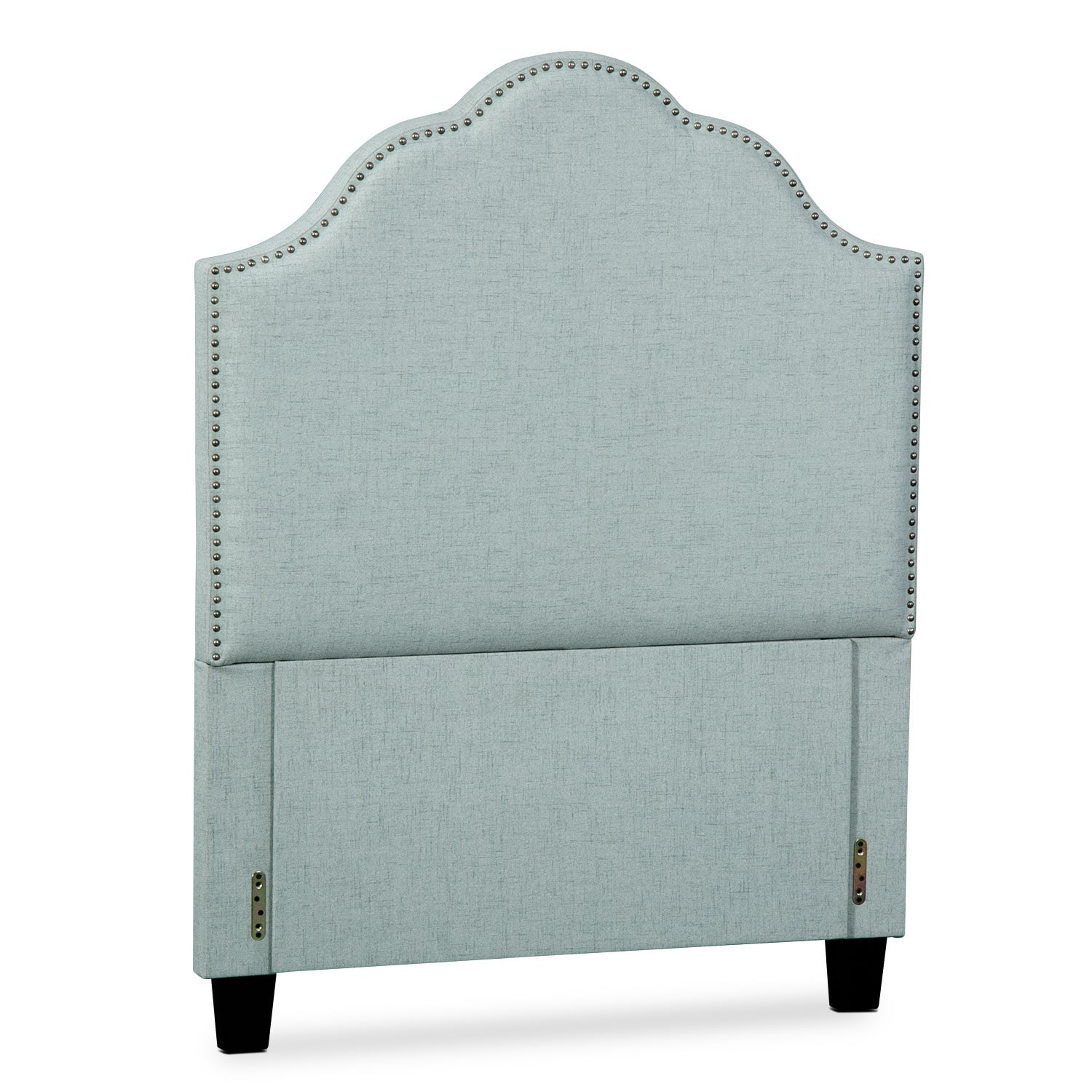 Maya Twin Upholstered Headboard - Aqua