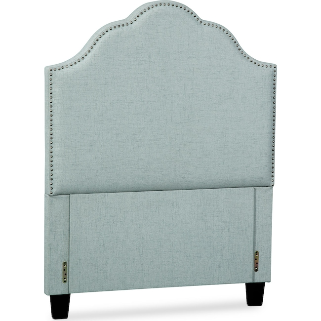 Bedroom Furniture - Maya Twin Upholstered Headboard - Aqua