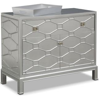 Erica Bar Cabinet - Silver