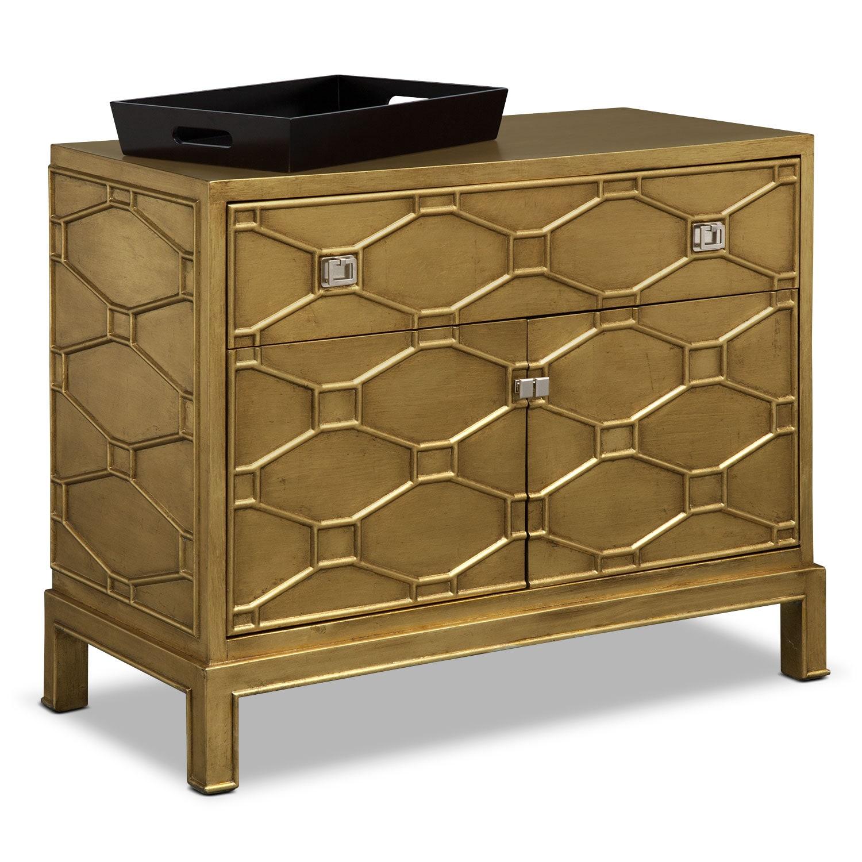 Erica Bar Cabinet - Gold