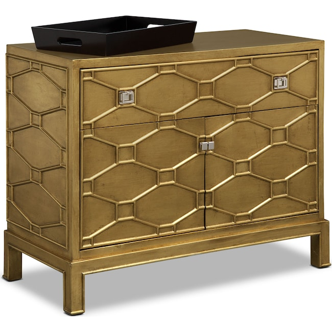 Bedroom Furniture - Erica Bar Cabinet - Gold