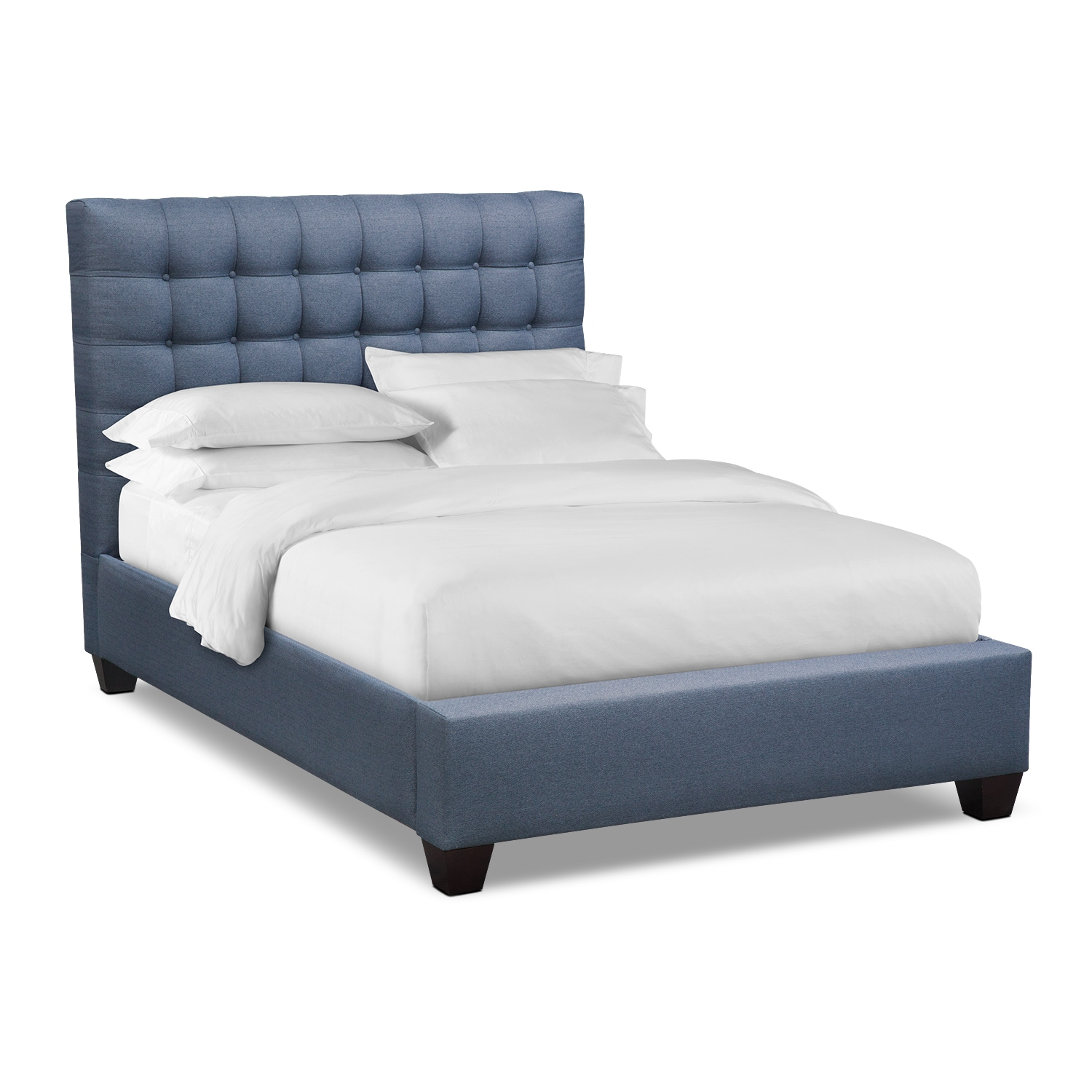 Kylie Queen Upholstered Bed - Blue
