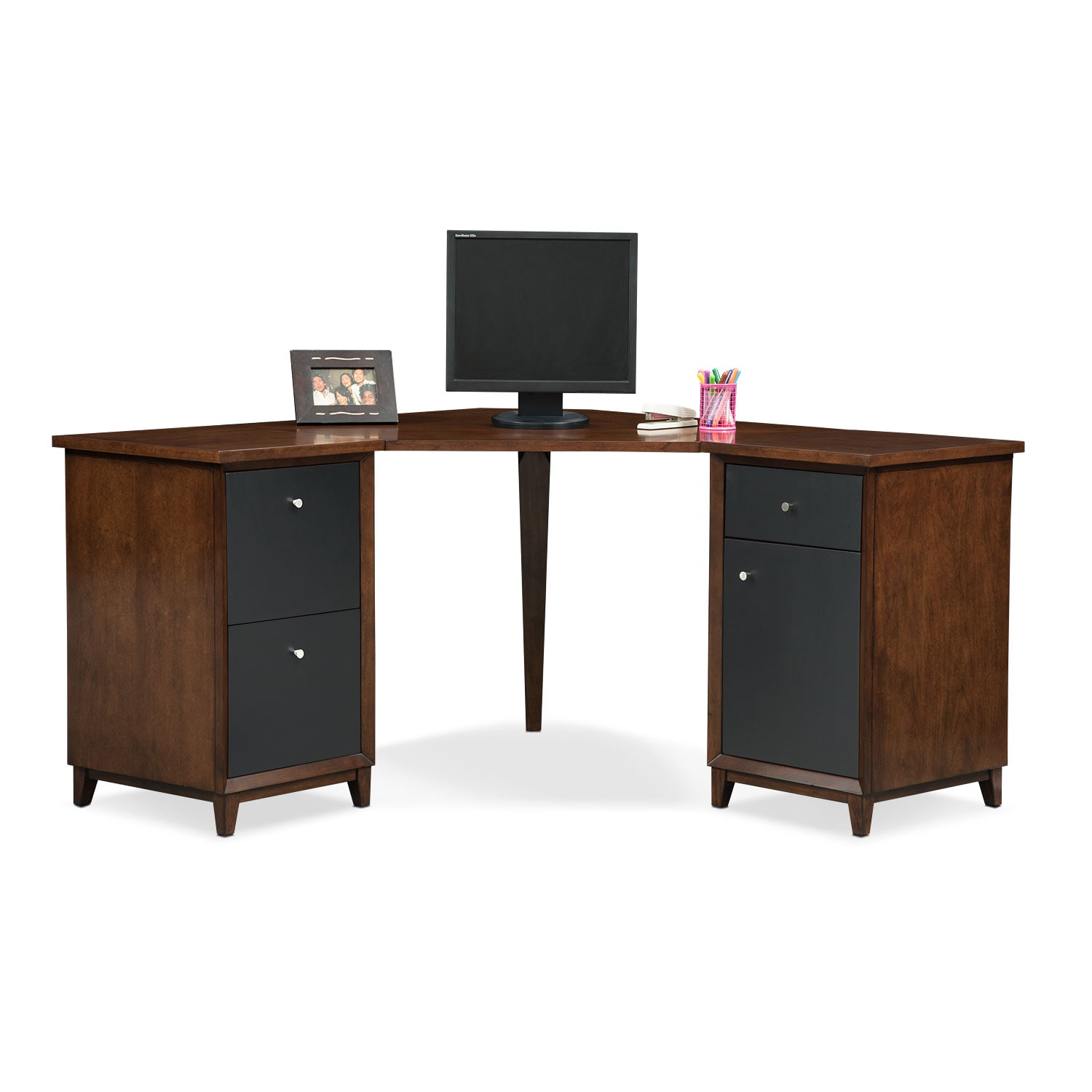 Oslo Black Corner Desk