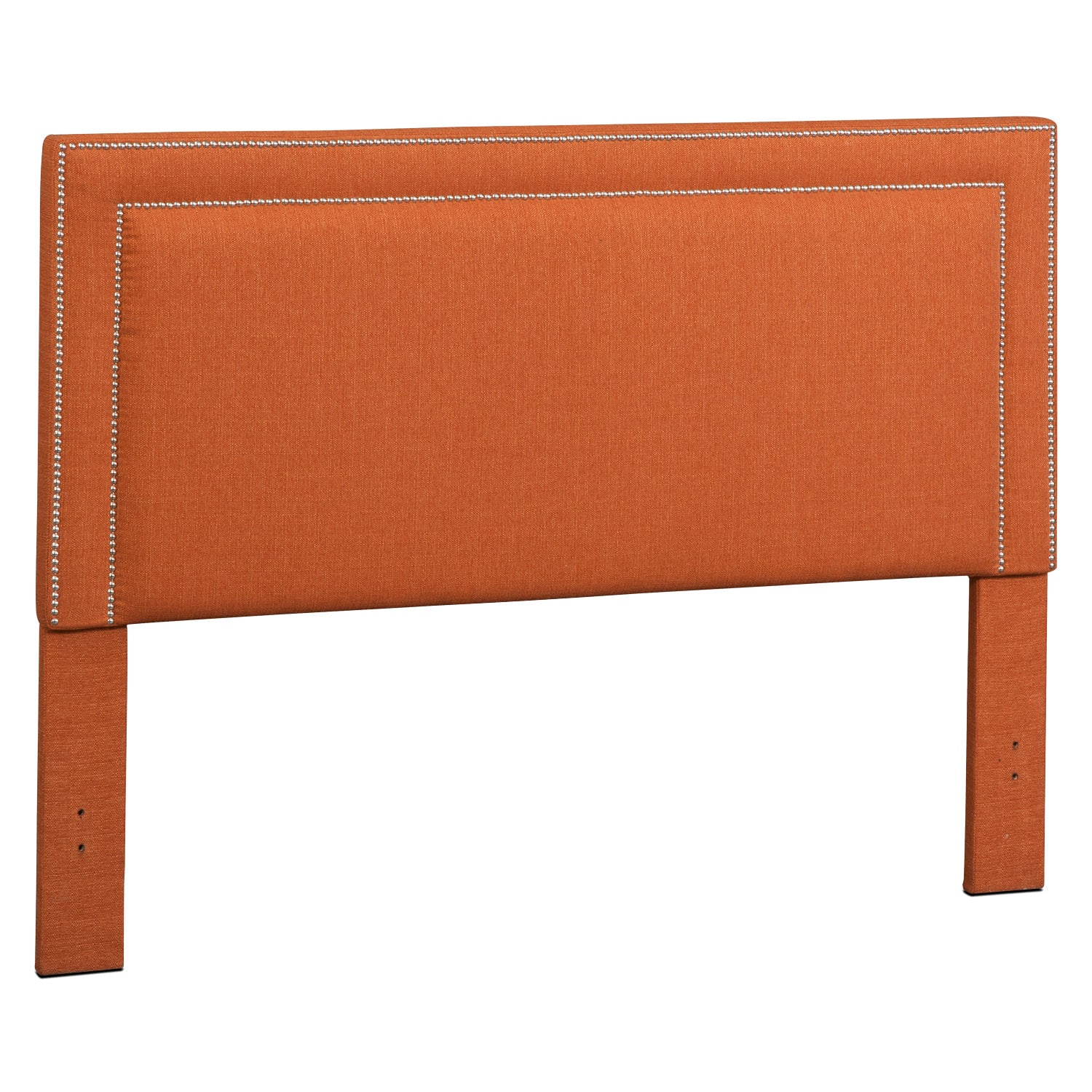 Bedroom Furniture - Natalie King Upholstered Headboard - Orange