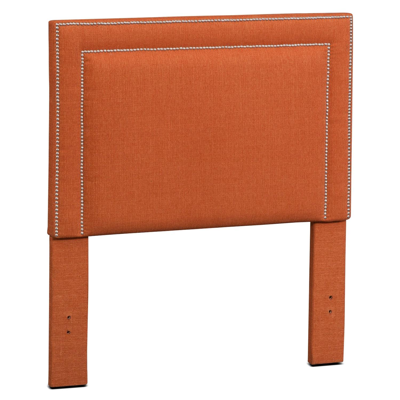 Natalie Twin Upholstered Headboard - Orange