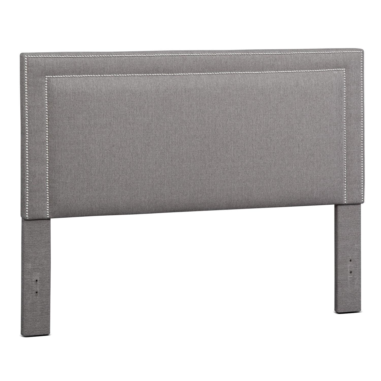 Bedroom Furniture - Natalie King Upholstered Headboard - Granite