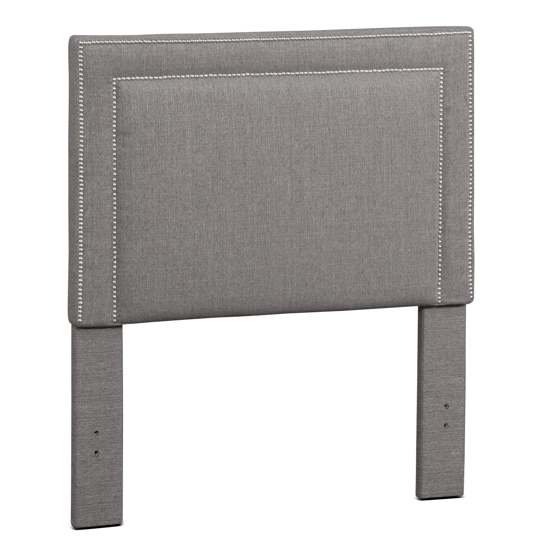 Bedroom Furniture - Natalie Full Upholstered Headboard - Granite