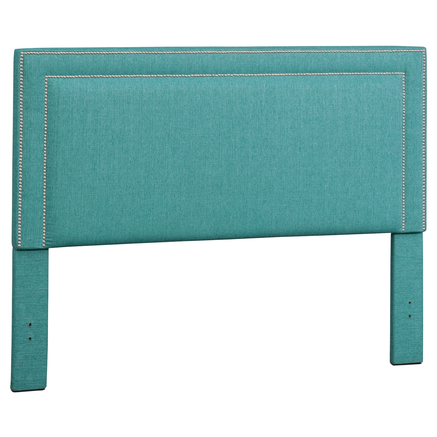 Bedroom Furniture - Natalie King Upholstered Headboard - Teal