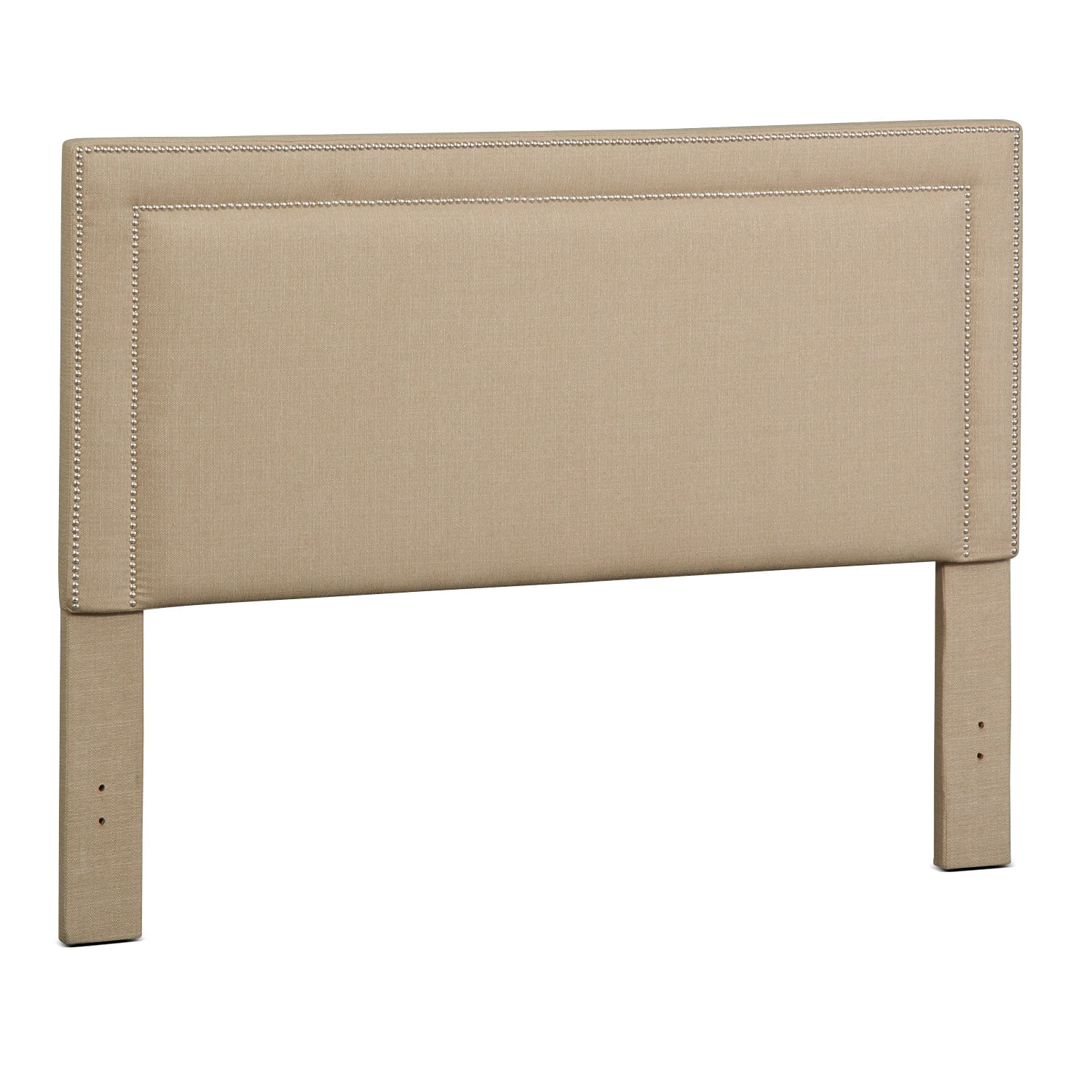Bedroom Furniture - Natalie Queen Upholstered Headboard - Tan