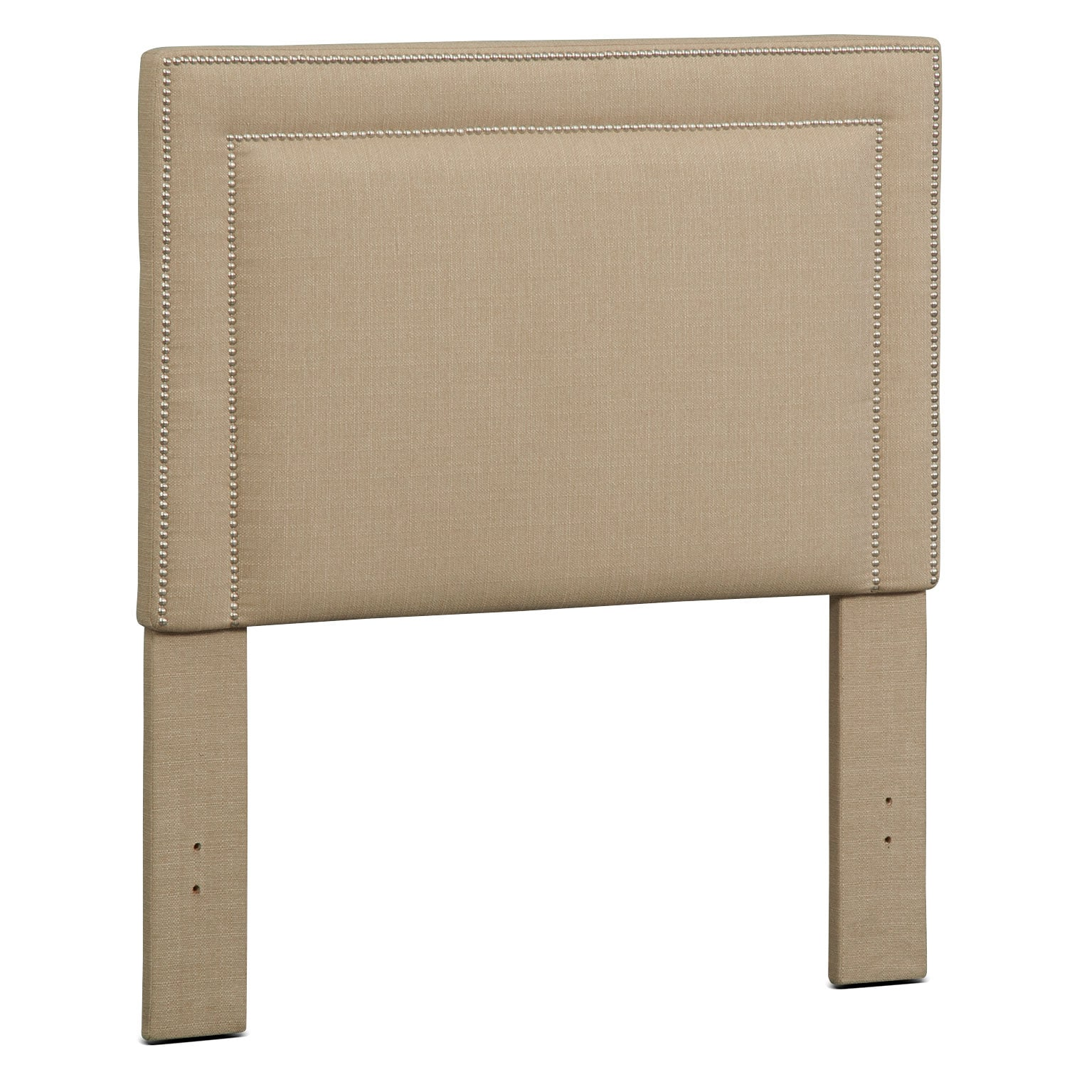 Bedroom Furniture - Natalie Full Upholstered Headboard - Tan
