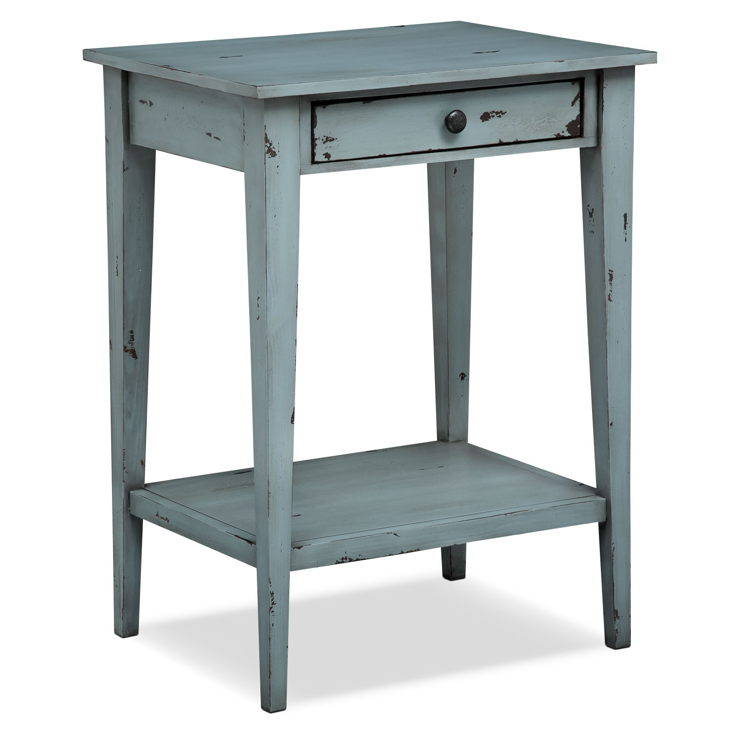 Bedroom Furniture - Anthony End Table - Blue