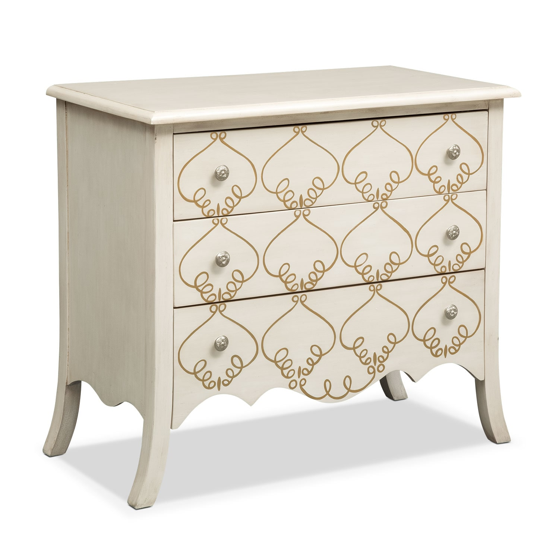 Accent and Occasional Furniture - Miranda Chest - White