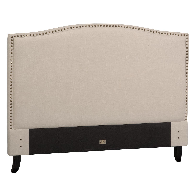 Bedroom Furniture - Aubrey King Upholstered Headboard - Sand