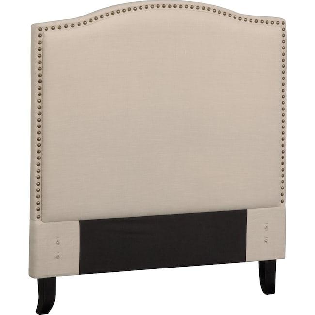 Bedroom Furniture - Aubrey Twin Upholstered Headboard - Sand