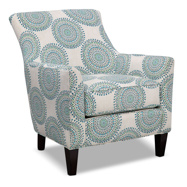 Bedroom Furniture - Rachel Carousel Accent Chair - Blue