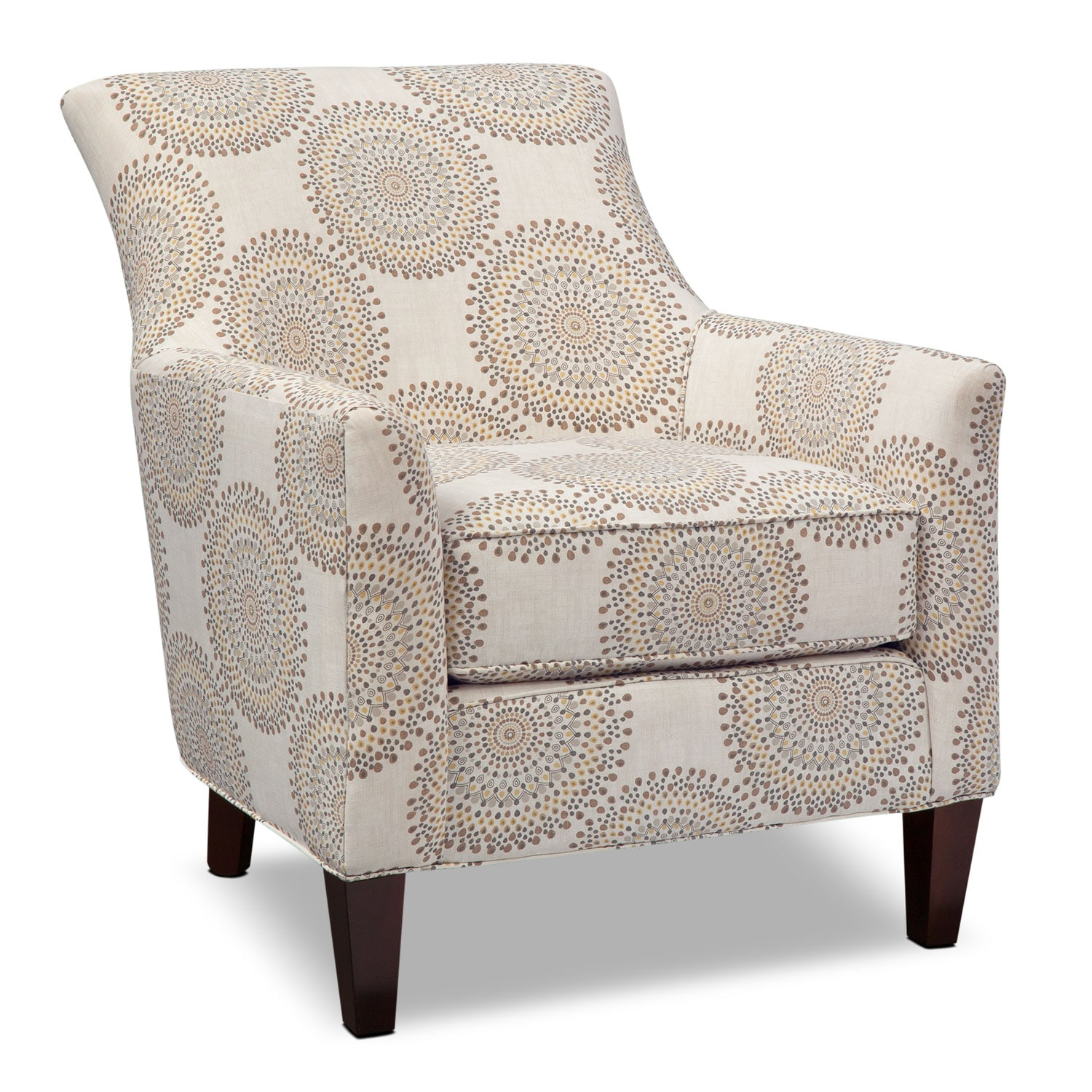 Accent and Occasional Furniture - Rachel Carousel Accent Chair - Sand