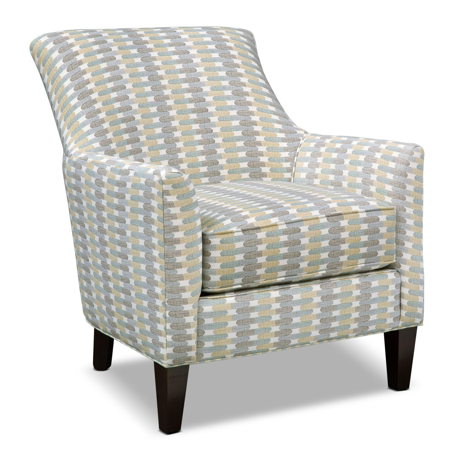 [Rachel Texture Accent Chair - Blue]