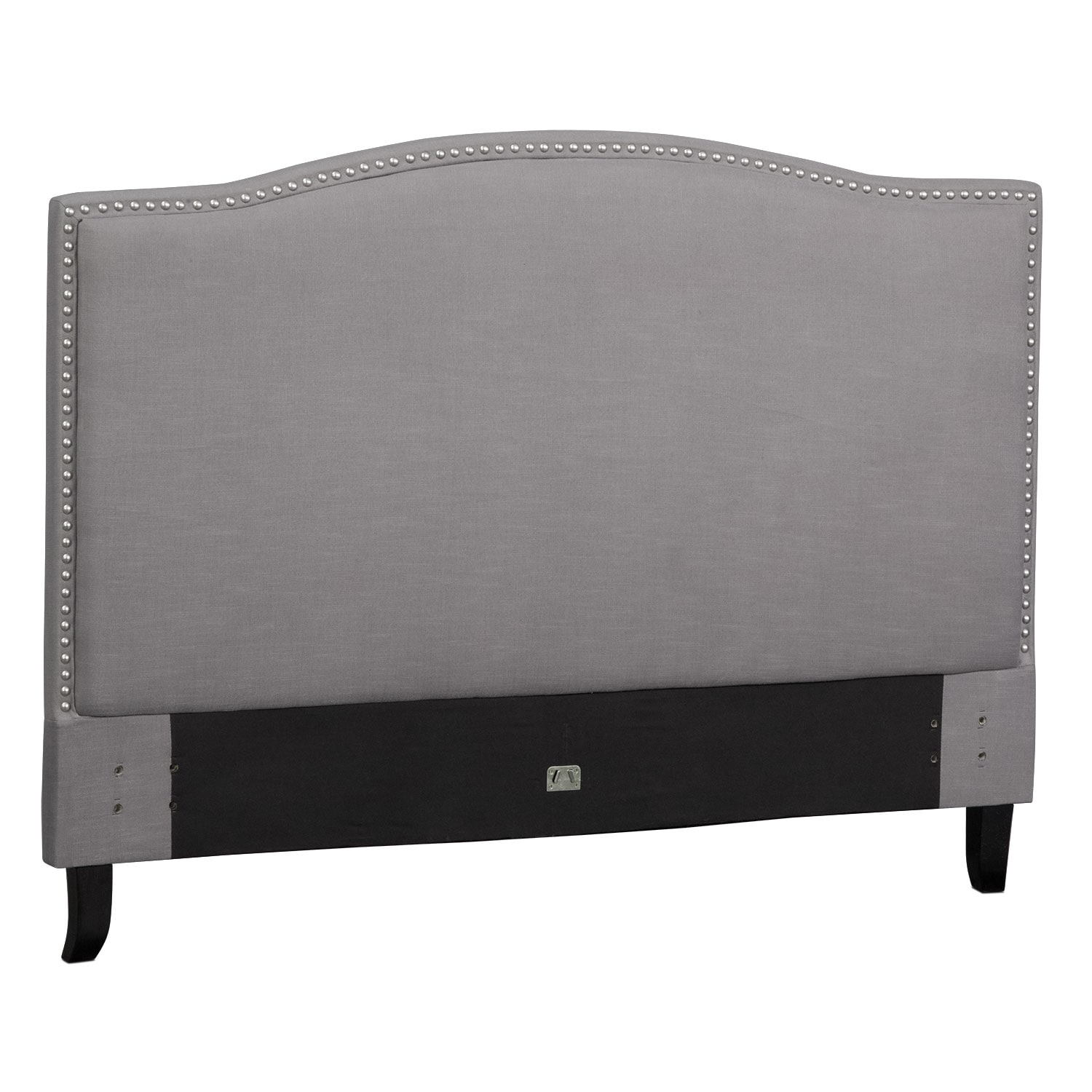 Bedroom Furniture - Aubrey King Upholstered Headboard - Gray
