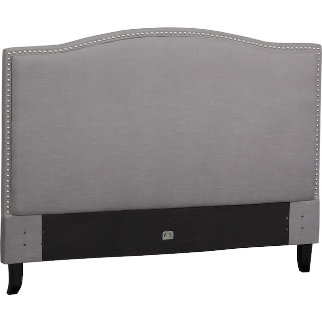 Bedroom Furniture - Aubrey Queen Upholstered Headboard - Gray