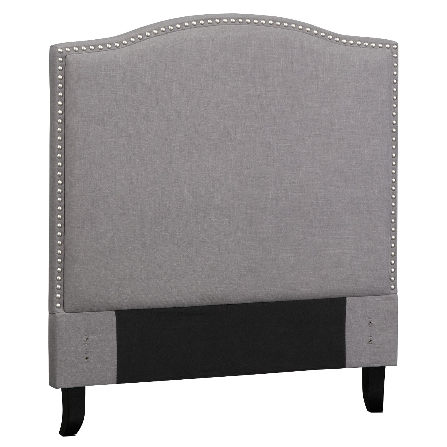 Bedroom Furniture - Aubrey Twin Upholstered Headboard - Gray