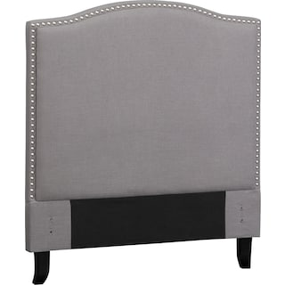 Aubrey Twin Upholstered Headboard - Gray