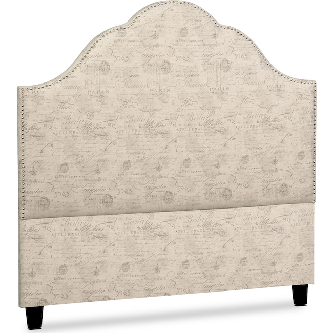 Bedroom Furniture - Maya King Upholstered Headboard - Script