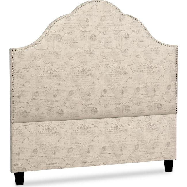 Bedroom Furniture - Maya King Upholstered Headboard - Script