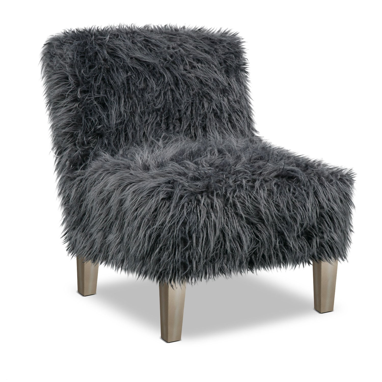 Bedroom Furniture - Westie Accent Chair - Gray